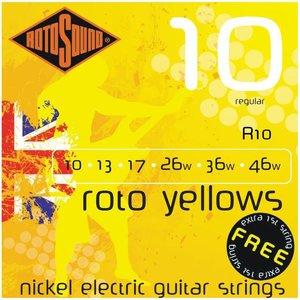 Rotosound R10 Snaren Roto Yellows Regular