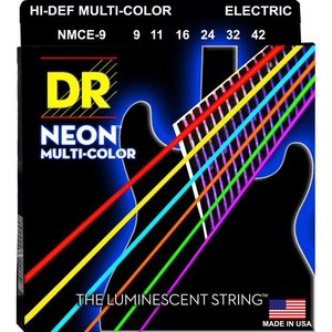 DR Strings NMCE-9 Snaren Neon Multicolor Lite