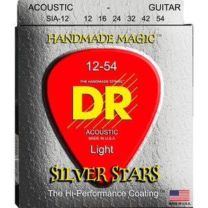 DR Strings SIA-12 Snaren Extra-Life Silver Stars Light