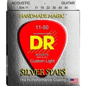 DR Strings SIA-11 Snaren Extra-Life Silver Stars Custom Lite