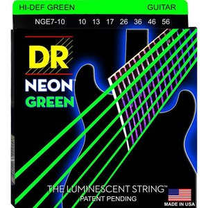 DR Strings NGE7-10 Snaren Neon Green Medium 7-String