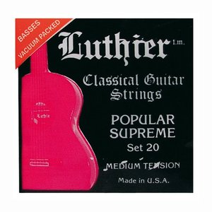 Luthier 20 Nylon gitaarsnaren Popular Supreme Medium Tension