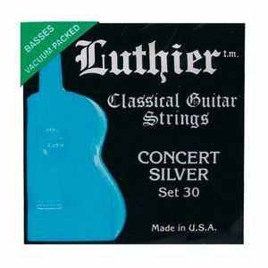 Luthier 30 Nylon gitaarsnaren Concert Silver Medium-Hard Tension