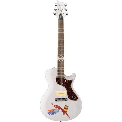 PRS SE One Abraxas Santana Elektrische gitaar Whitewash +Gig-bag