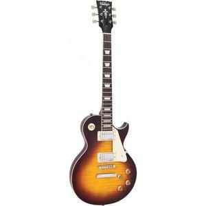 Vintage V100IT Elektrische gitaar Flamed Iced Tea