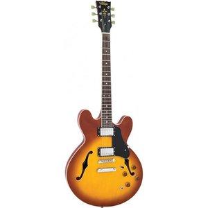 Vintage VSA500HB Hollowbody gitaar Honeyburst