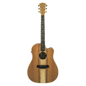 Cole Clark FL2EC-RDBL Gitaar Fat Lady 2 Redwood/Blackwood