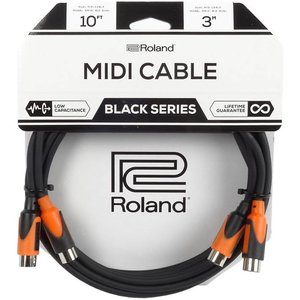 Roland RMIDI-B10-DUAL Black Series Midikabel 2x3m