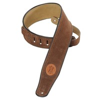 Levy's MSS3-BRN Gitaarband Brown 2.5-Inch Suede Leather