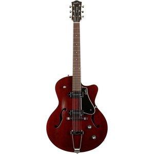 Godin 5th Avenue CW Kingpin P90 Hollowbody gitaar Burgundy
