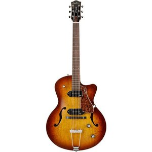 Godin 5th Avenue CW Kingpin P90 Hollowbody gitaar Cognac Burst