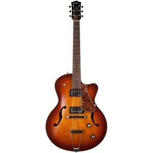 Godin 5th Avenue CW Kingpin II HB Hollowbody gitaar Cognac Burst