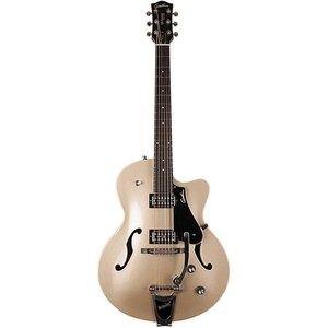 Godin 5th Avenue Uptown GT LTD Hollowbody gitaar Silver Gold