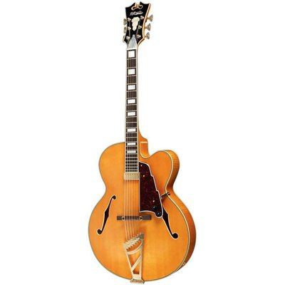 D'Angelico EXL1 Hollowbody gitaar Natural +Case