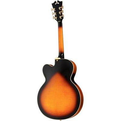 D'Angelico EXL1 Hollowbody gitaar Vintage Sunburst +Case