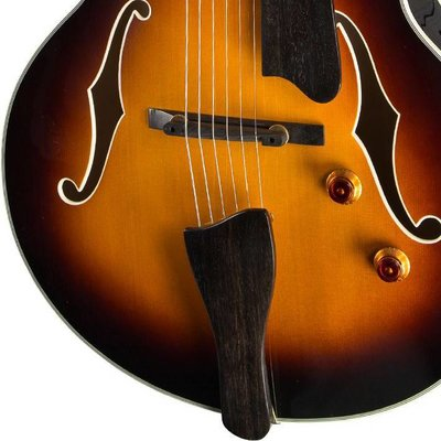 Eastman AR503CE Hollowbody gitaar Sunburst +Case