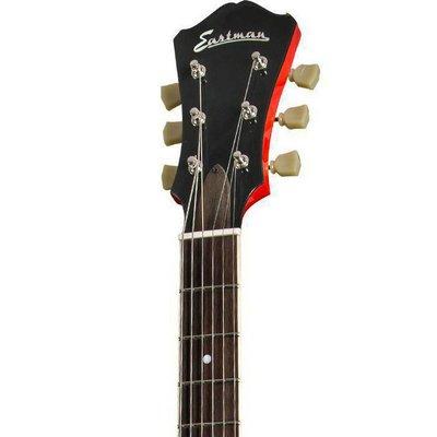 Eastman T386 Hollowbody gitaar Red +Case