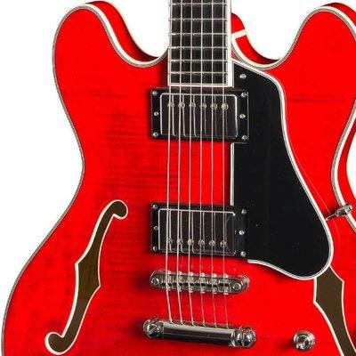 Eastman T486 Hollowbody gitaar Red +Case