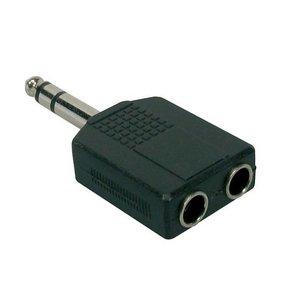 Proel AT170 Verloopplug 6.3mm Stereo-2x 6.3mm Stereo Contra