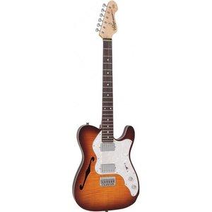 Vintage V72HFTB Elektrische gitaar Flame Tobacco Burst