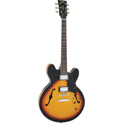 Vintage VSA500SB Hollowbody gitaar Sunburst