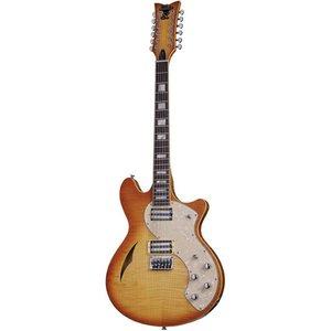 Schecter T S/H-12 Classic Elektrische gitaar Vintage Natural Burst