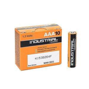 Duracell Industrial Alkaline AAA Batterij 10-Stuks