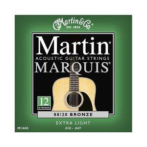 Martin M1600 Snaren Marquis 80/20 Bronze Extra Light 12-String