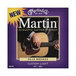Martin M175 Snaren 80/20 Bronze Custom Light