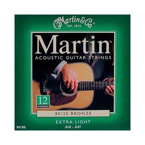 Martin M180 Snaren 80/20 Bronze Extra Light 12-String