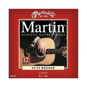 Martin M190 Snaren 80/20 Bronze Light 12-String