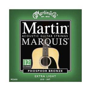 Martin M2600 Snaren Marquis 80/20 Bronze Extra Light 12-String