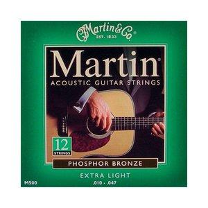 Martin M500 Snaren Phosphor Bronze Extra Light 12-String