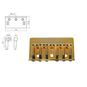 Boston B1500G Gitaarbrug Gold TE-Model