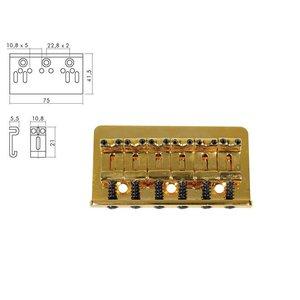 Boston B1502G Gitaarbrug Gold ST-Model