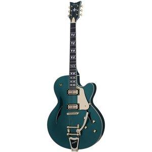 Schecter Coupe Hollowbody gitaar Dark Emerald Green