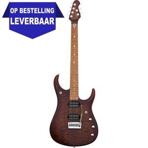 Music Man JP15 John Petrucci Elektrische gitaar Sahara Burst Quilt