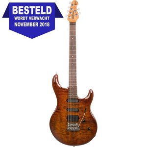 Music Man Luke 3 HSS BFR Elektrische gitaar Hazel Burst Flame
