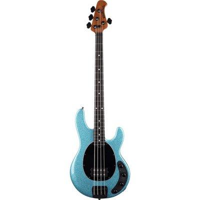 Music Man Stingray Special Bass Ebony Aqua Sparkle +Case