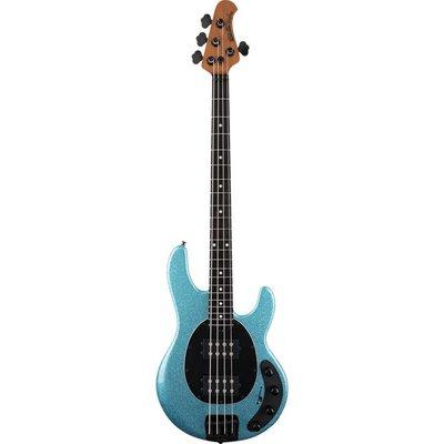 Music Man Stingray Special Bass HH Ebony Aqua Sparkle +Case
