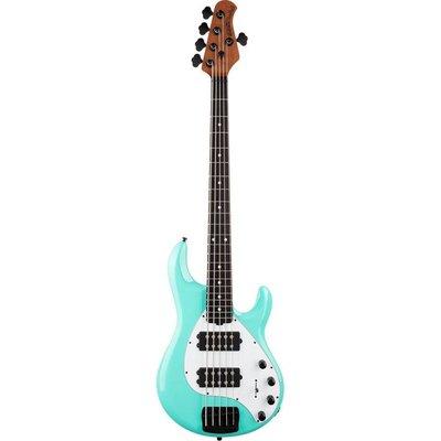 Music Man Stingray 5 Special Bass HH Ebony Cruz Teal +Case