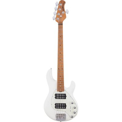 Music Man Stingray 5 Special Bass HH Maple Ivory White +Case