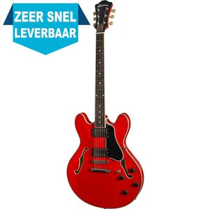 Eastman T386 Hollowbody gitaar Red