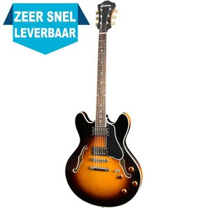 Eastman T386 Hollowbody gitaar Sunburst