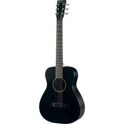 Martin LX Black Akoestische gitaar Little Martin Left Handed +Bag