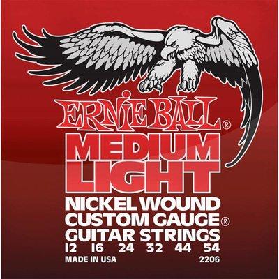 Ernie Ball 2206 Elektrische gitaarsnaren Nickel Medium Light Wound-G