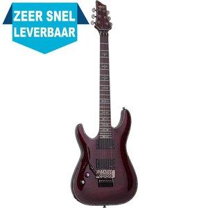 Schecter Hellraiser C-1 FR LH Elektrische gitaar Left Black Cherry