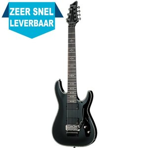 Schecter Hellraiser C-7 FR Elektrische gitaar Black