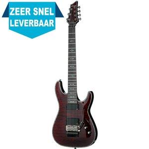 Schecter Hellraiser C-7 FR Elektrische gitaar Black Cherry