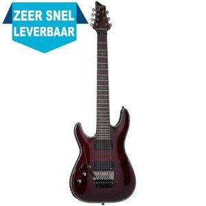 Schecter Hellraiser C-7 FR LH Elektrische gitaar Left Black Cherry